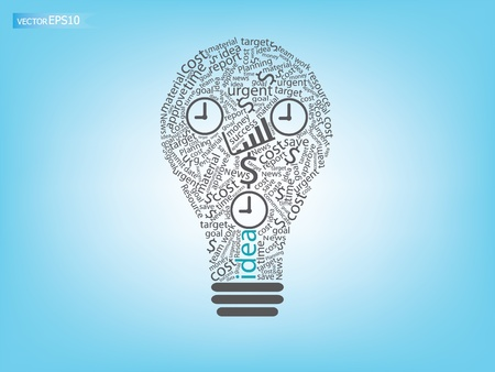 business working concept and idea  Vector
