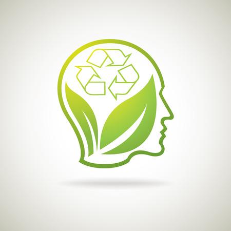 and bracing: Eco think idea icon