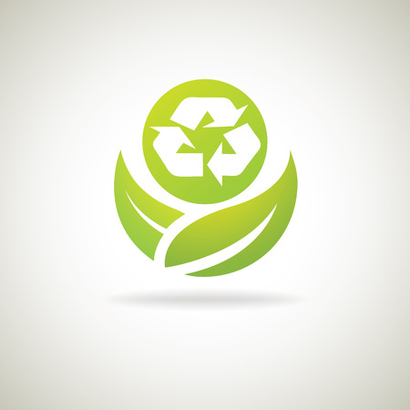 Eco Recycle icon Vector