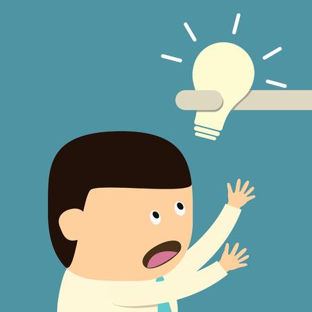 unsuccess: Steal Idea concept  Illustration