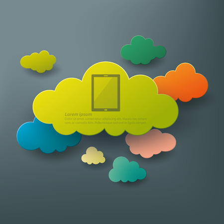 green computing: Cloud computing abstract background