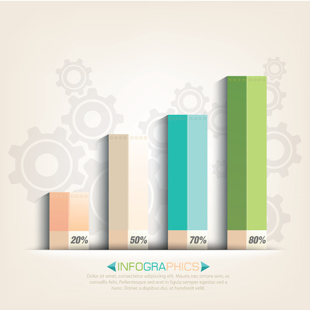 Business info graphics with graphs design Vector