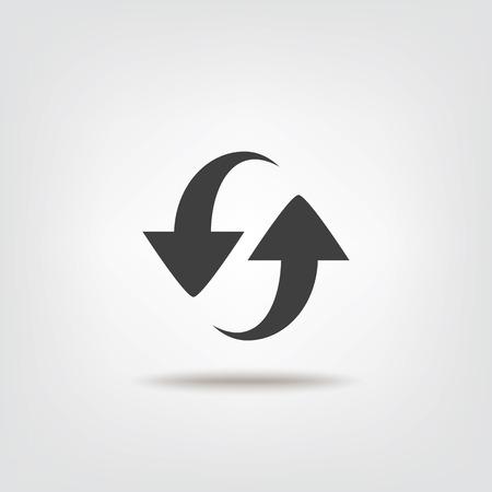 Refresh sign icon  Illustration
