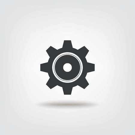 Cog gear isolated sign icon