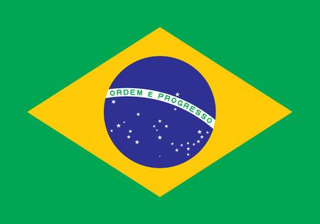 brazilian flag: Vector Brazil Flag Illustration