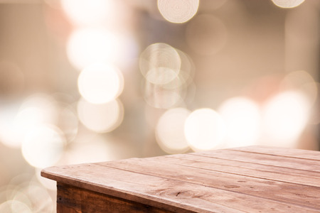 luz natural: borrosa de fondo abstracto con el bokeh y el suelo de madera