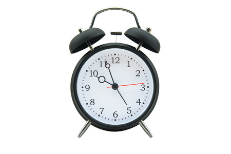 Alarm clock isolated on white background 免版税图像