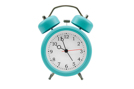 Alarm clock isolated on white background Stock Photo