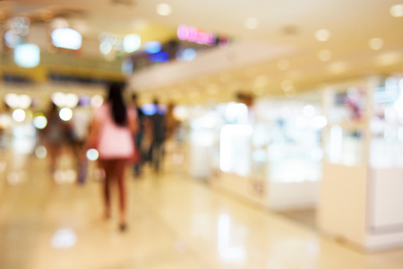Shopping mall blurred background Stock Photo