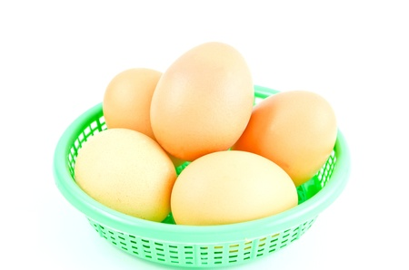 ailment: Eggs isolated on white background