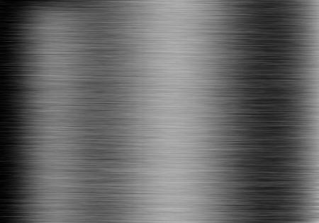 Metal achtergrond of textuur van geborsteld staal plaat met reflecties plaat van het ijzer
