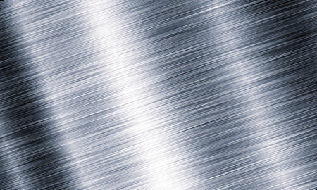 Metal background or texture of brushed steel plate with reflections Iron plate Stok Fotoğraf - 48542041