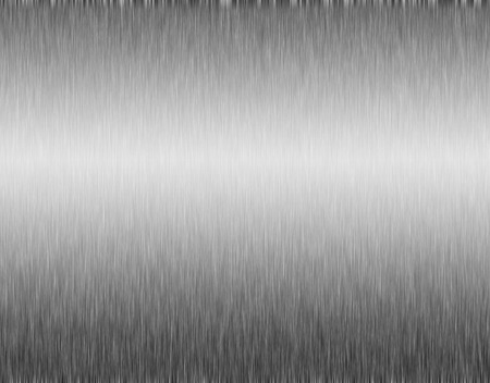 reflection of life: metal, stainless steel texture background with reflection Stock Photo