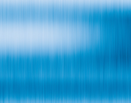 Metal blue background or texture of brushed steel plate with reflections Stock Photo