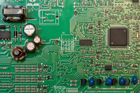 smd 緑多層電子回路基板マイクロ コント ローラーとコンポーネント 写真素材