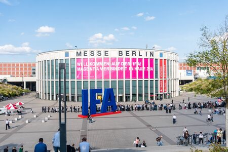Berlin, Germany- September 4.,2018., Main, south entrance to the IFA -the largest annual consumer electronics exhibition in Europe.