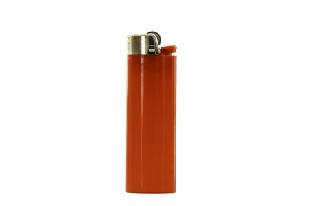 Red lighter isolated on white background Standard-Bild