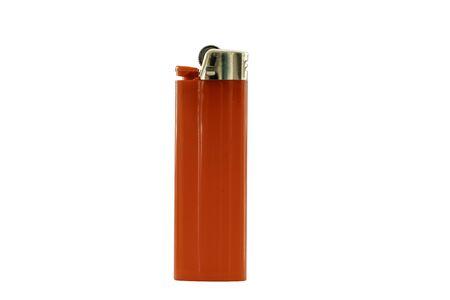 Red lighter isolated on white background 版權商用圖片
