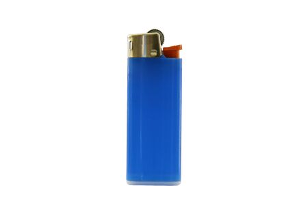 Blue lighter isolated on white background