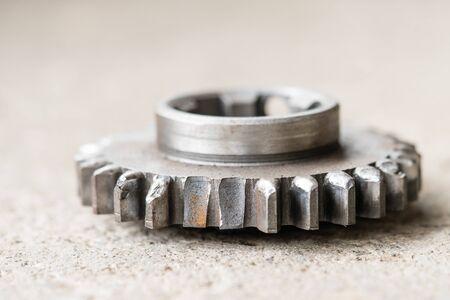 Broken teeth on the gear. Mechanical workshop and repair concept. 版權商用圖片