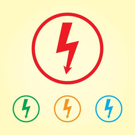 Lightning bolt icon set photo