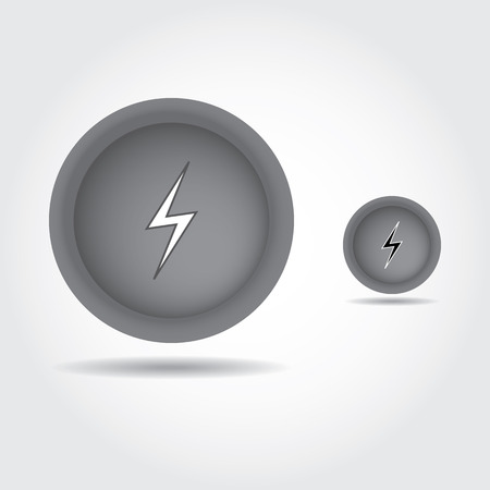 Lightning bolt icon set photo
