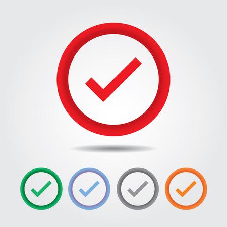 check icon: Bot�n verdadera marca, Registro de icono