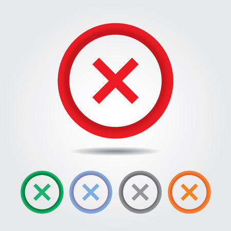 cross mark: Wrong mark icon , Cross sign