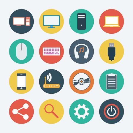 Computer icon set. Vector illustration illustration