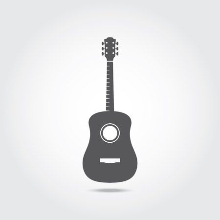 Acoustic Guitar Icon. Vector illustration Ilustrace