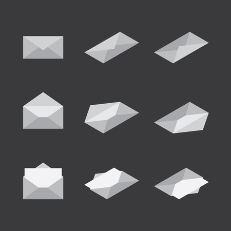 Envelope Mail Icon sign. isometric design. flat design. Vector illustration