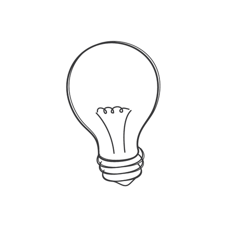 Concept of idea. Light Bulb icon. Vector illustration 向量圖像
