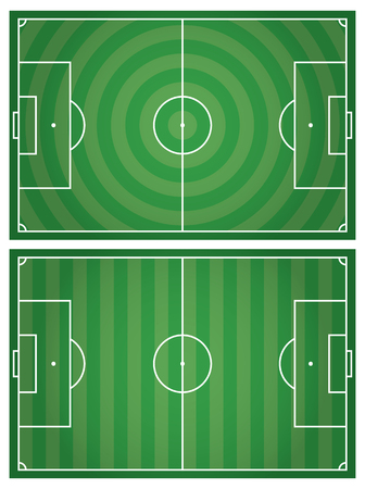 Soccer field. Vector illustration