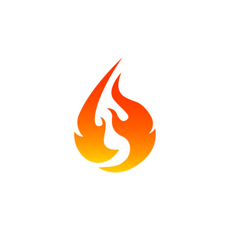 Fire icon in white background