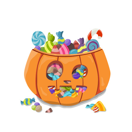 Pumpkin Halloween. Vector illustration
