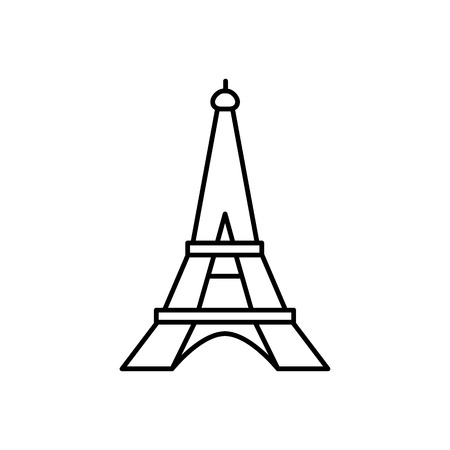 Eiffel Tower icon vector illustration. 向量圖像