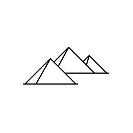 Pyramids icon vector illustration.