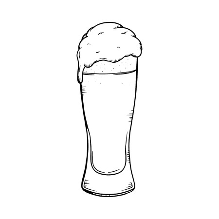 Beer illustration. Beer line drawing 向量圖像