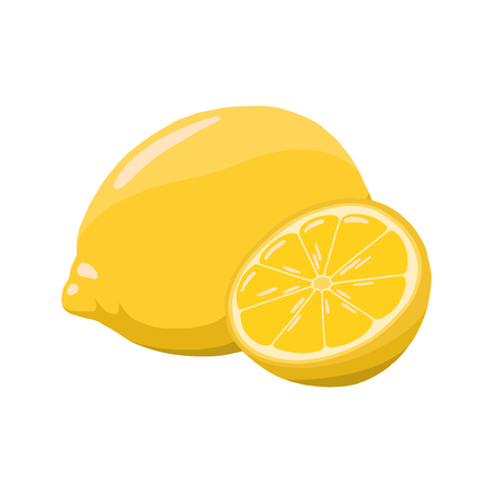 Lemon vector illustration. cute lemon. 向量圖像