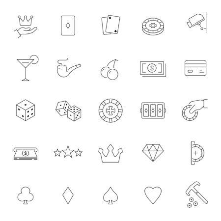 Casino icon set. Vector illustration