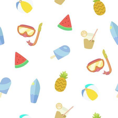summer seamless pattern. Vector illustration