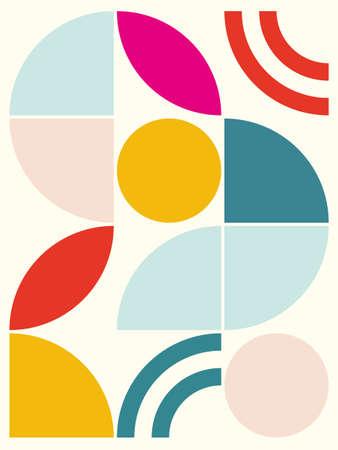 Geometric shape design background. Vector illustration