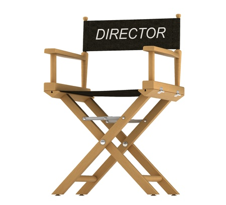Action: directors chair isolated over white background
