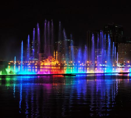 Singing fountains in Sharjah, UAE photo