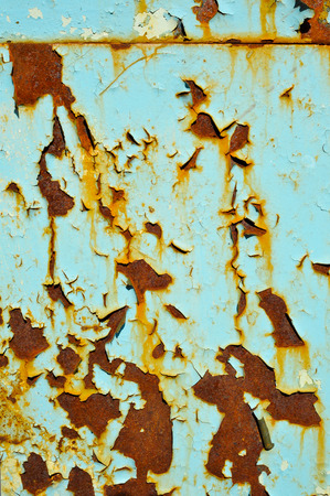 rust covered: Texture with Faded green chipped paint