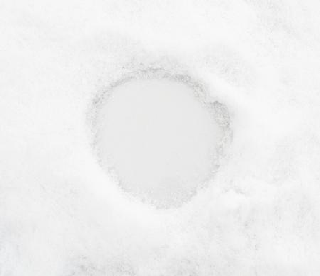 textura: neve Textura con spazio per il testo o rond numerale Archivio Fotografico