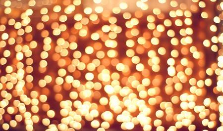 glare: Many defocused glare. Holiday lights bokeh background Stock Photo