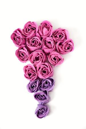 rose quartz: bouquet of SOAP roses. Rose Quartz color Stock Photo