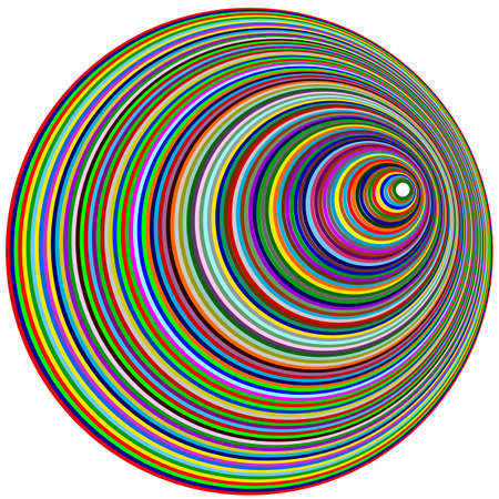 Multi-colored rings, colored background for posters, postcards