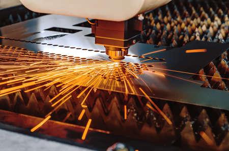 High precision CNC laser cutting metal sheet.